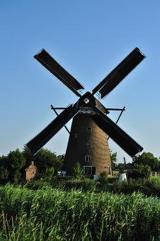 Free Windmill Landscape Royalty Free Stock Image - 10070356