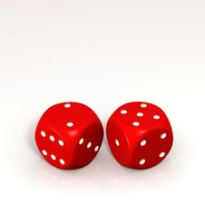 Free Two Red Dice Royalty Free Stock Image - 10071026