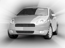 Free Silver Car On Abstract Background Royalty Free Stock Image - 10071836