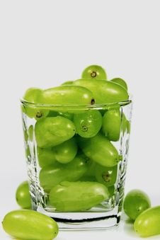 Free Green Grapes In A Cup Stock Image - 10072271