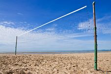 Free Volleyball Net On Beach In Thailand Stock Images - 10072414