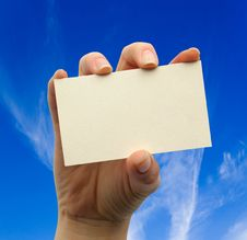 Free Card Blank Stock Photography - 10072772
