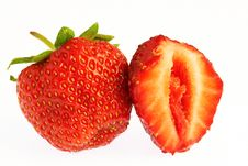 Free Macro Shot Fresh Strawberry And A Half Royalty Free Stock Photography - 10074097