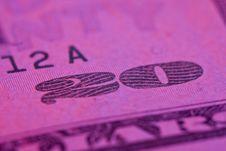 Free Macro 20 Dollar Bill Royalty Free Stock Image - 10074266