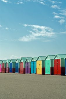 Free Colourful Beach Huts Stock Images - 10074484