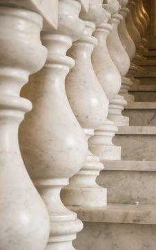 Free Marble Ladder On A Empire Style Stock Photos - 10074523
