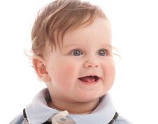 Portrait Of Adorable Blue-eyes Baby Boy Royalty Free Stock Photo