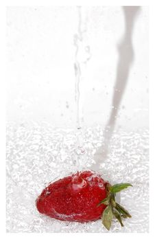 Free Strawberry Splash Stock Image - 10076411