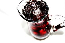 Free Glass Of Sour-cherries Cocktail Royalty Free Stock Image - 10076446
