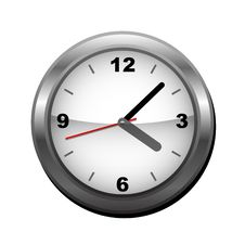 Wall Clock (vector) Stock Image