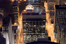Free Chicago Night Streets Royalty Free Stock Photos - 10076858
