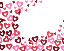 Free Red And Pink Hearts On White Stock Photo - 10076950