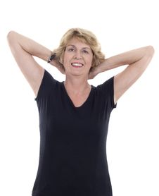 Free Senior Woman Stretching Stock Photography - 10077022
