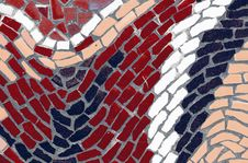 Mosaic Tiles In A Wave Pattern Stock Images