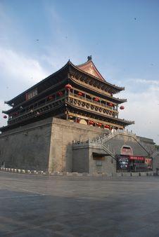 Free Xian Drum Tower Stock Photos - 10077363