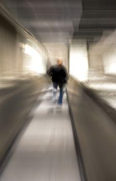 Free Man In Escalators Royalty Free Stock Photography - 10077457