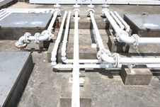 Free Building Rooftop Pipelines Stock Images - 10077914