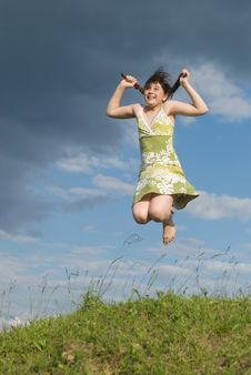 Free Jumping Girl Stock Photos - 10078243