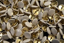 Free Some Thumbtacks Royalty Free Stock Images - 10078569