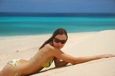 Free Woman On The Beach Stock Photos - 10078663