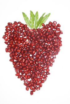 Heart Pomegranate Stock Photos