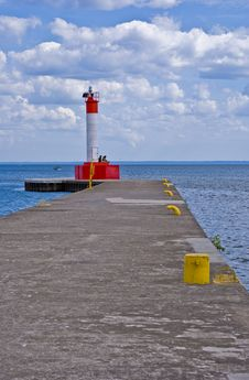 Free Lighthouse On The Pier Stock Photography - 10079392