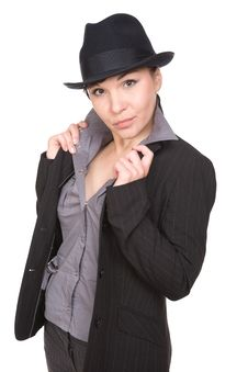 Free Woman With Hat Stock Photos - 10079643