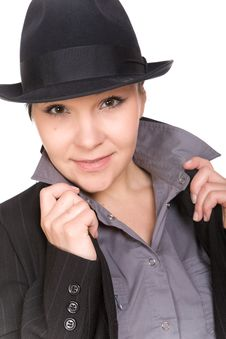 Free Woman With Hat Royalty Free Stock Image - 10079666