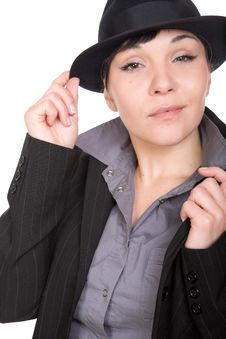 Free Woman With Hat Royalty Free Stock Photography - 10079667