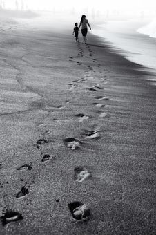 Free Black And White, Monochrome Photography, Sky, Sand Royalty Free Stock Photo - 100702255