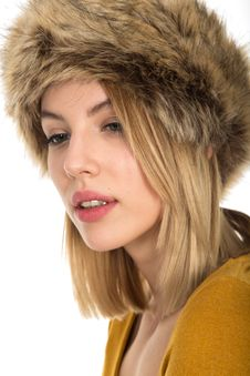 Free Fur Clothing, Fur, Beauty, Headgear Stock Photos - 100704123