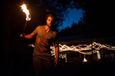 Free Night, Darkness, Fire, Performance Art Stock Images - 100714944