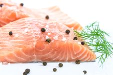 Free Smoked Salmon, Salmon, Lox, Fish Slice Stock Photos - 100715503