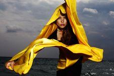 Free Yellow, Outerwear, Fun, Sky Stock Photography - 100726342