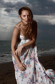Free Beauty, Fashion Model, Model, Sea Stock Image - 100726521