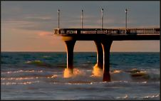 Free Pier New Brighton Royalty Free Stock Images - 100758979