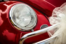 Free Volkswagen Car For Wedding Stock Photos - 100759163