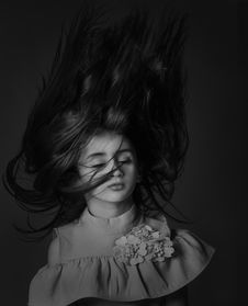 Free Hair, Black, Photograph, Black And White Stock Image - 100792351