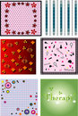 Free Vector Set Of Wallpapers Stock Photos - 10083903