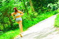 Free Woman Runner In The Woods Royalty Free Stock Image - 10085766