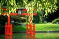 Free Japanese Garden With Torii Stock Photography - 10087372