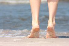 Free Nice Legs In Water Stock Image - 10080611