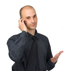 Free Businessman Calling On Phone Royalty Free Stock Photos - 10080778