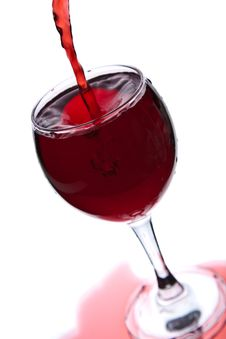 Free Red Wine Pouring Into Glass Isolated Royalty Free Stock Photos - 10080918