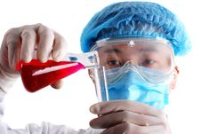 Free Chemist Holding Flask Stock Photo - 10081430
