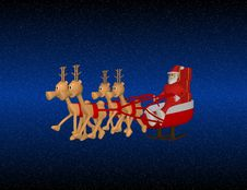 Free Santa Claus With Reindeer Royalty Free Stock Photography - 10081907