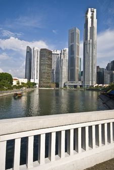 Free Singapore River View Royalty Free Stock Photography - 10082647