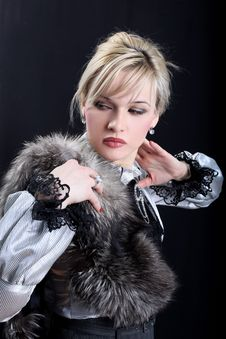 Free Girl With Fur Royalty Free Stock Image - 10082866