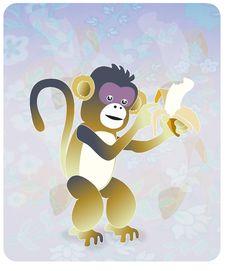 Free Banana Monkey Stock Image - 10084541