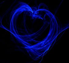 Free Abstract Blue Flame Heart Royalty Free Stock Images - 10084579
